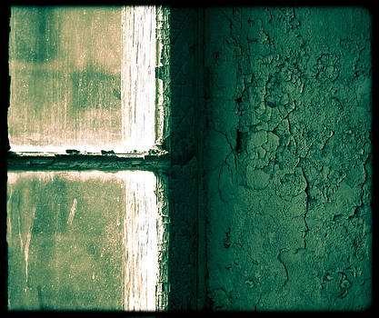 Window and Green Painted Wall by Andy Mars
