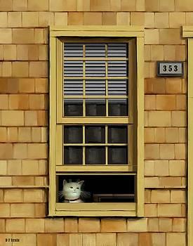 Window Cat    No.1 by Diane Strain