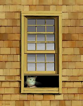 Window Cat    No.5 by Diane Strain