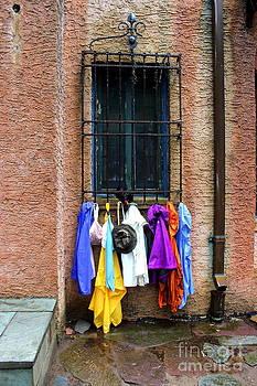 Window Raincoat Rack by Andre Turner