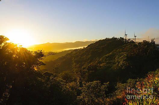 Oscar Gutierrez - Windturbines at Sunrise