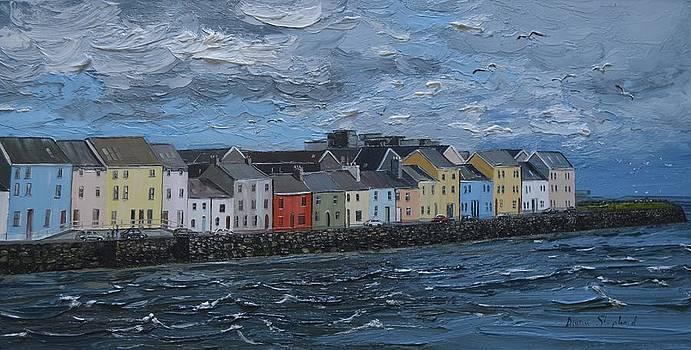 Windy Day The Long Walk Galway Ireland by Diana Shephard