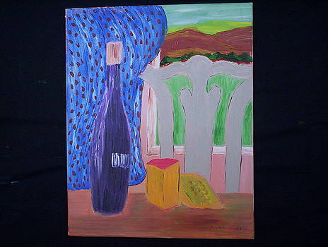 Wine And Cheese Break by Harold Messler
