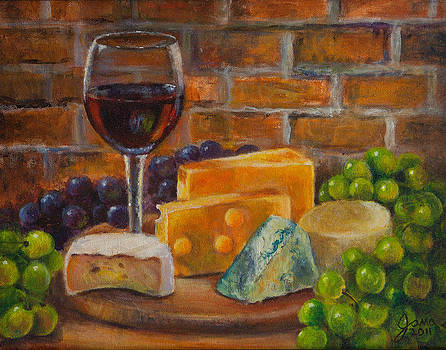 Wine and Cheese by Jana Baker