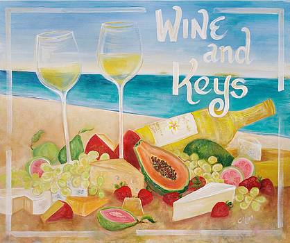 Wine and Keys by Christine  Fifer