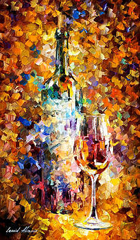 Wine For Emotions - PALETTE KNIFE Oil Painting On Canvas By Leonid Afremov by Leonid Afremov