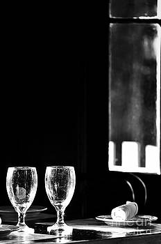 Danny Hooks - Wine Glasses on Table by Window