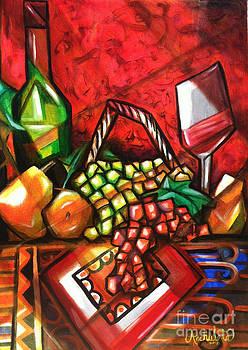 Wine in Paris by Ruben Archuleta - Art Gallery