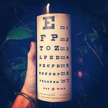 Wine Label That Doubles As An Eye by Samantha Ouellette