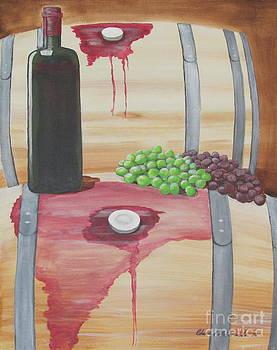 Wine N Grapes by Edward Maldonado