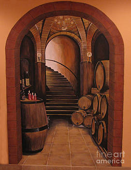 Wine Room Mural by Creations by DuBois