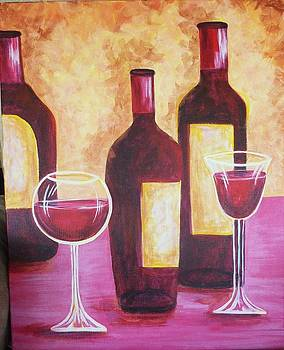 Wine Time by Brenda  Bell