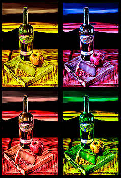 Wine x 4 by Sharon Beth