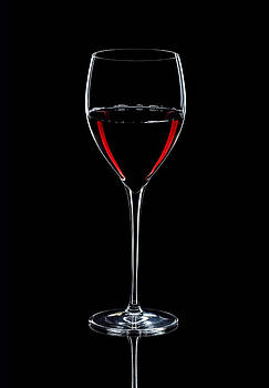 Alex Sukonkin - Wineglass Filled With Red Wine Silhouette