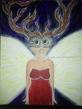 Winged Deer Woman Transformation by B Melusine Mihaltses