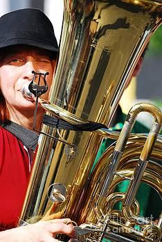 Winking musician by Susan Hernandez