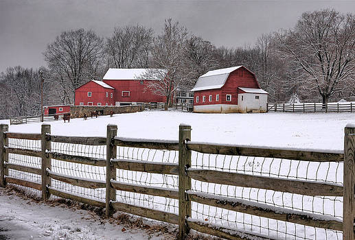 Winter At Buffalo Hollow Farm by Pat Abbott