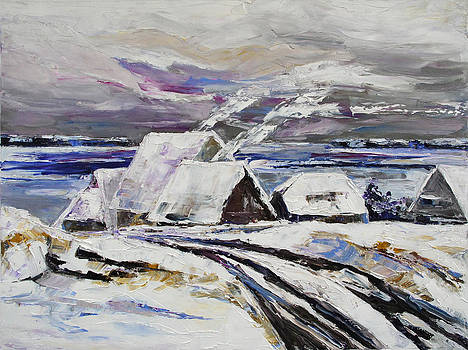 Winter At Little Jasmund Bay On The Island Ruegen by Barbara Pommerenke