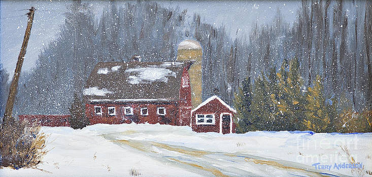 Winter at Spring Creek Farm by Terry Anderson