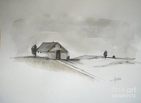 Winter Barn by Vesna Antic