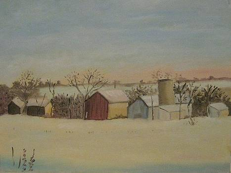Winter Barns by Rebecca Jackson