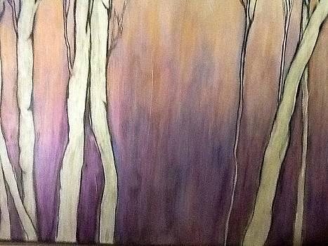 Winter Birches by Phyllis Hollenbeck