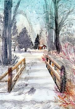 Winter Bridge by Deb Stroh Larson