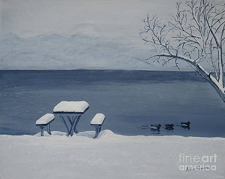 Winter by the Lake by Alicia Fowler