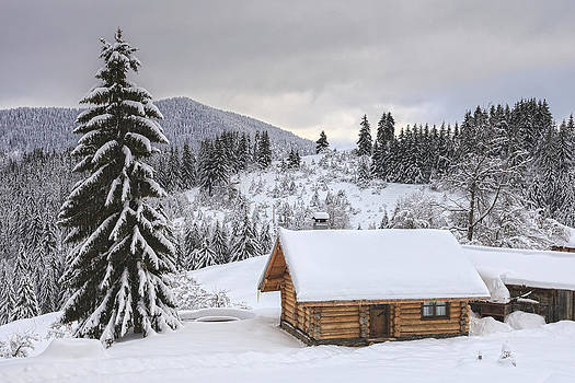 Winter Cabin by Evgeni Dinev