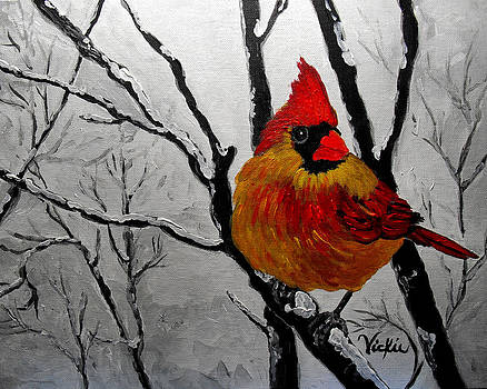 Winter Cardinal 2 by Vickie Warner
