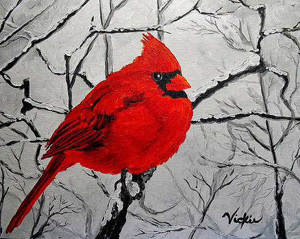 Winter Cardinal by Vickie Warner