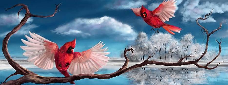 Winter Cardinals by Kristina Becker