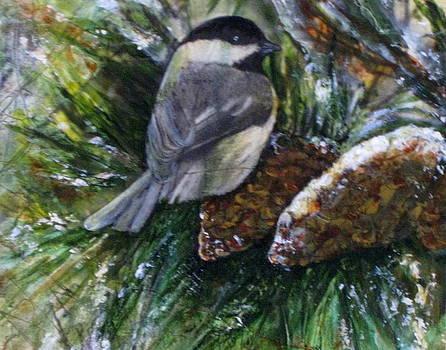 Winter Chickadee by Katey Sandy