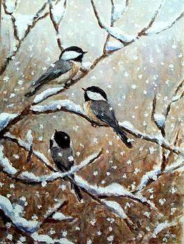 Winter Chickadees by Robert Stump