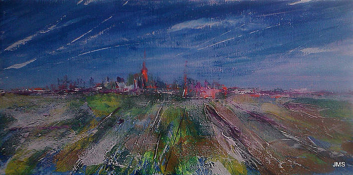 Winter City in the Distance by John Scholey