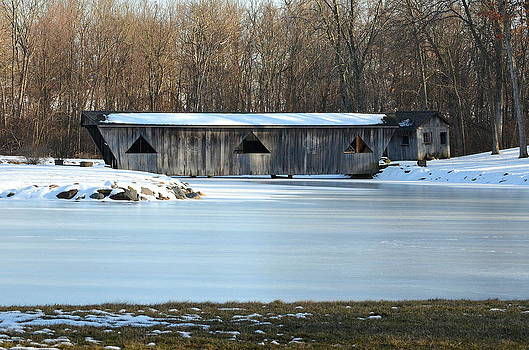Winter Covered Bridge by Jennifer  King