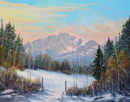 Winter Dawn - Pikes Peak 130910-1114 by Kenneth Shanika