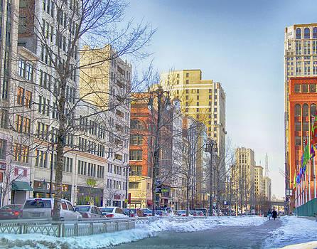 Winter in Downtown Detroit by Julie Underwood