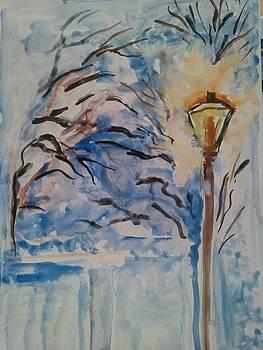 Winter In Town by Farfallina Art -Gabriela Dinca-
