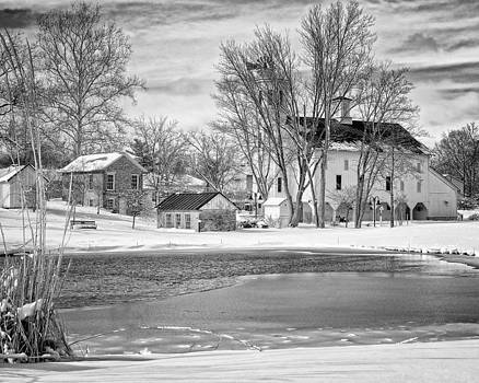 Winter in Westerville Ohio by Dick Wood