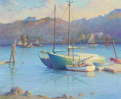 Winter Mooring Gloucester by Ernest Principato
