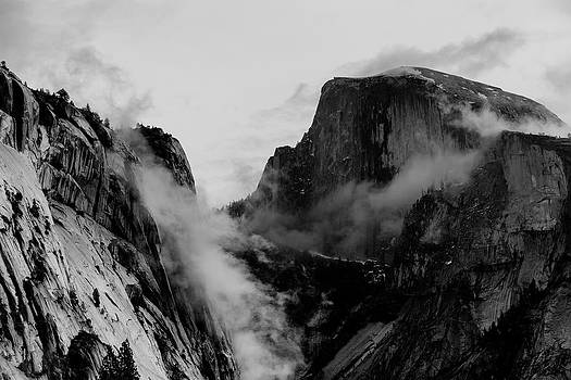 Winter Morning Half Dome and Tenaya Canyon by Troy Montemayor