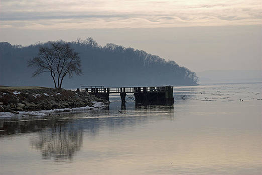 Winter Morning on the Hudson  by Judy Salcedo