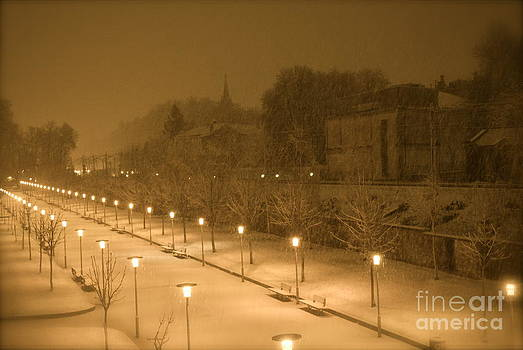 Winter Nights Vitoria Spain Version 2 by Ty Cook