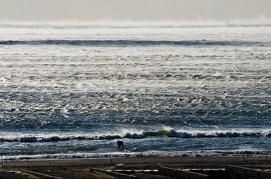 Winter Ocean Rockaway Beach by Maureen E Ritter