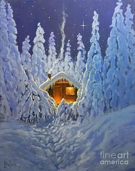 Winter Retreat by Paul K Hill