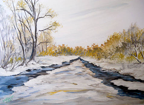 Winter River Banks by Dorothy Maier