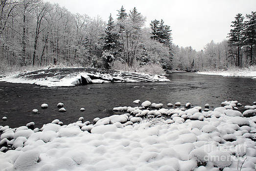 Winter River Bubbles by Denise Lilly