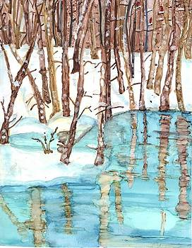 Winter River by Lin Deahl