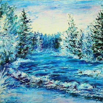 Winter River by Marina Lavrova